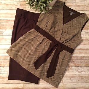 Sleeveless Top w/Matching Dress Bermuda Shorts